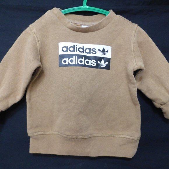 ADIDAS, baby boy, 6 months, brown sweatshirt, GUC